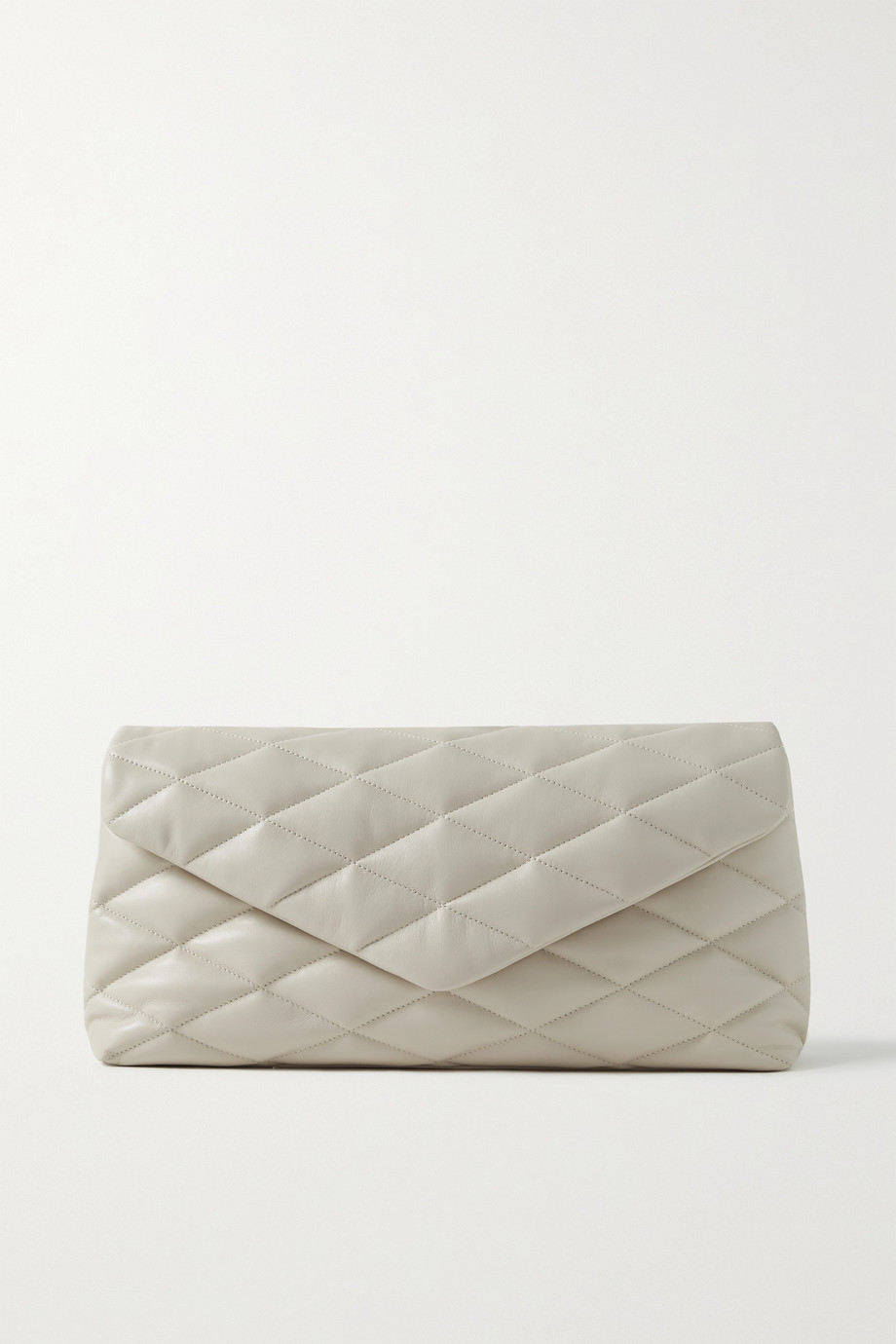 SAINT LAURENT Sade quilted leather clutch