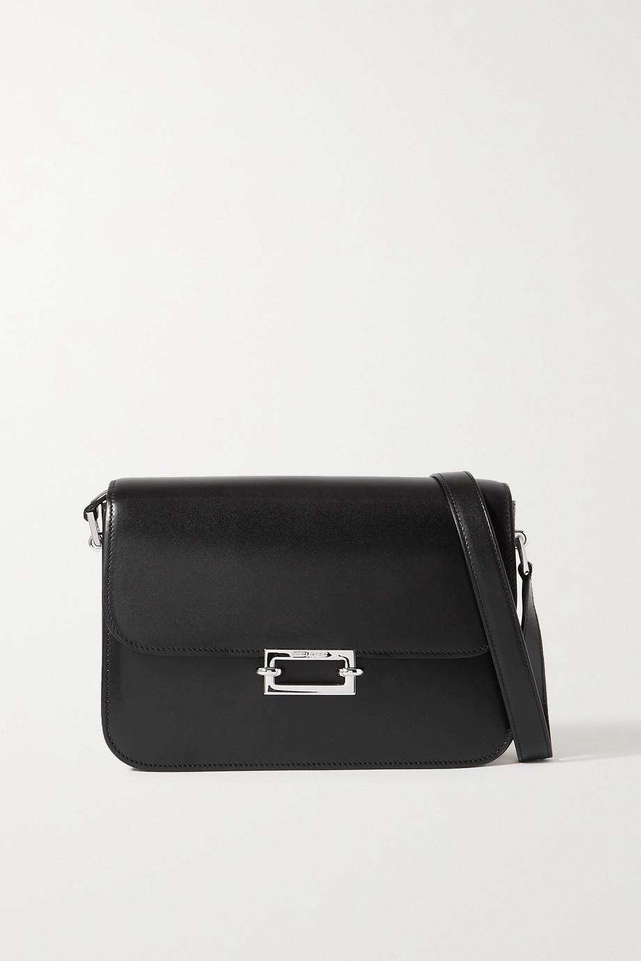 SAINT LAURENT Fermoir leather shoulder bag