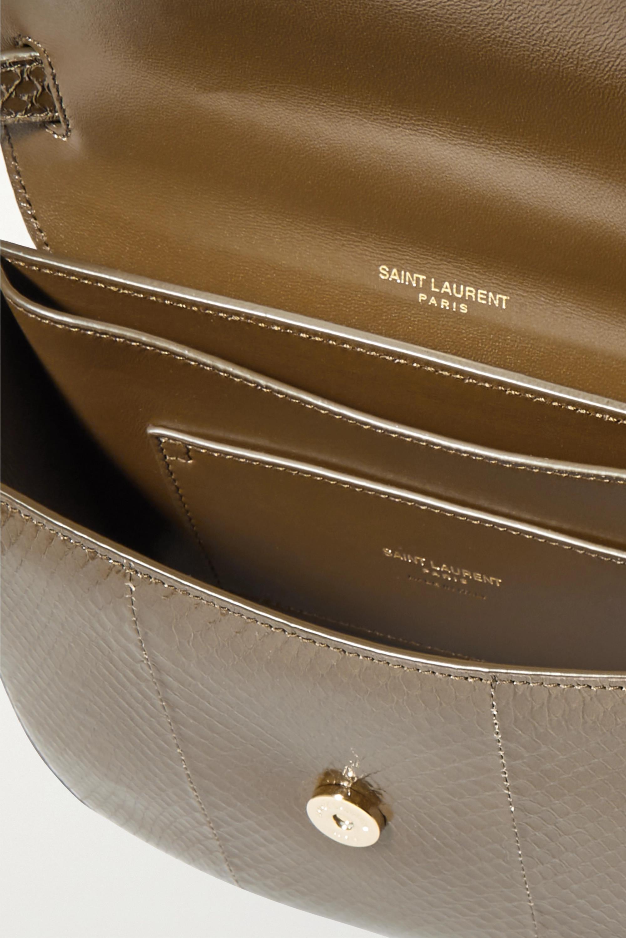 SAINT LAURENT Kaia small watersnake shoulder bag