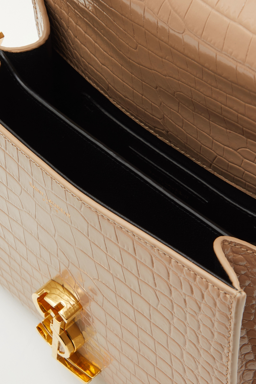 SAINT LAURENT Cassandra mini croc-effect leather tote
