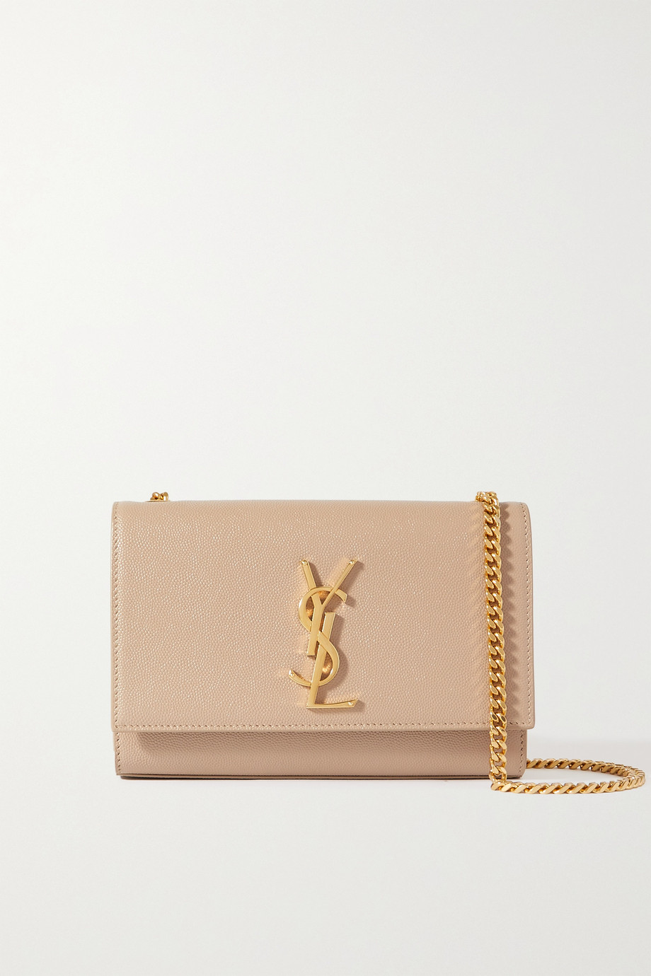 SAINT LAURENT Sac porté épaule en cuir texturé Monogramme Kate Small