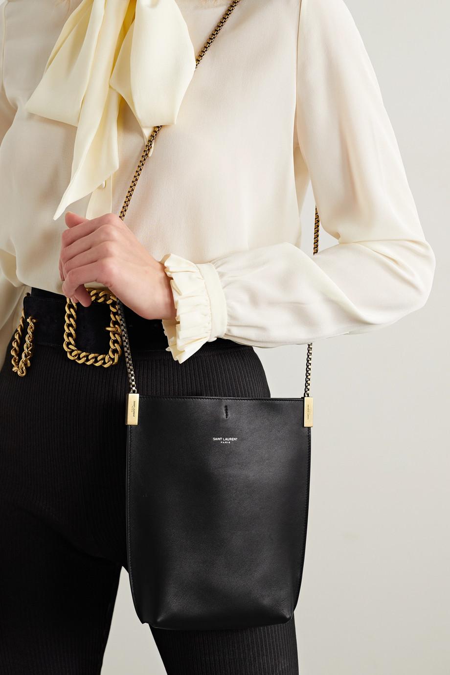 SAINT LAURENT Suzanne mini leather shoulder bag
