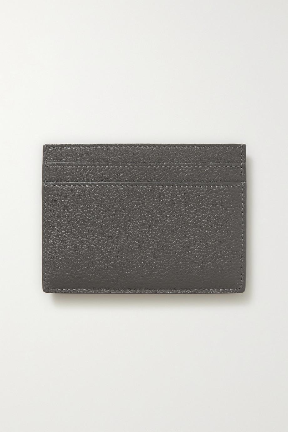 SAINT LAURENT Porte-cartes en cuir texturé Monogramme Tiny