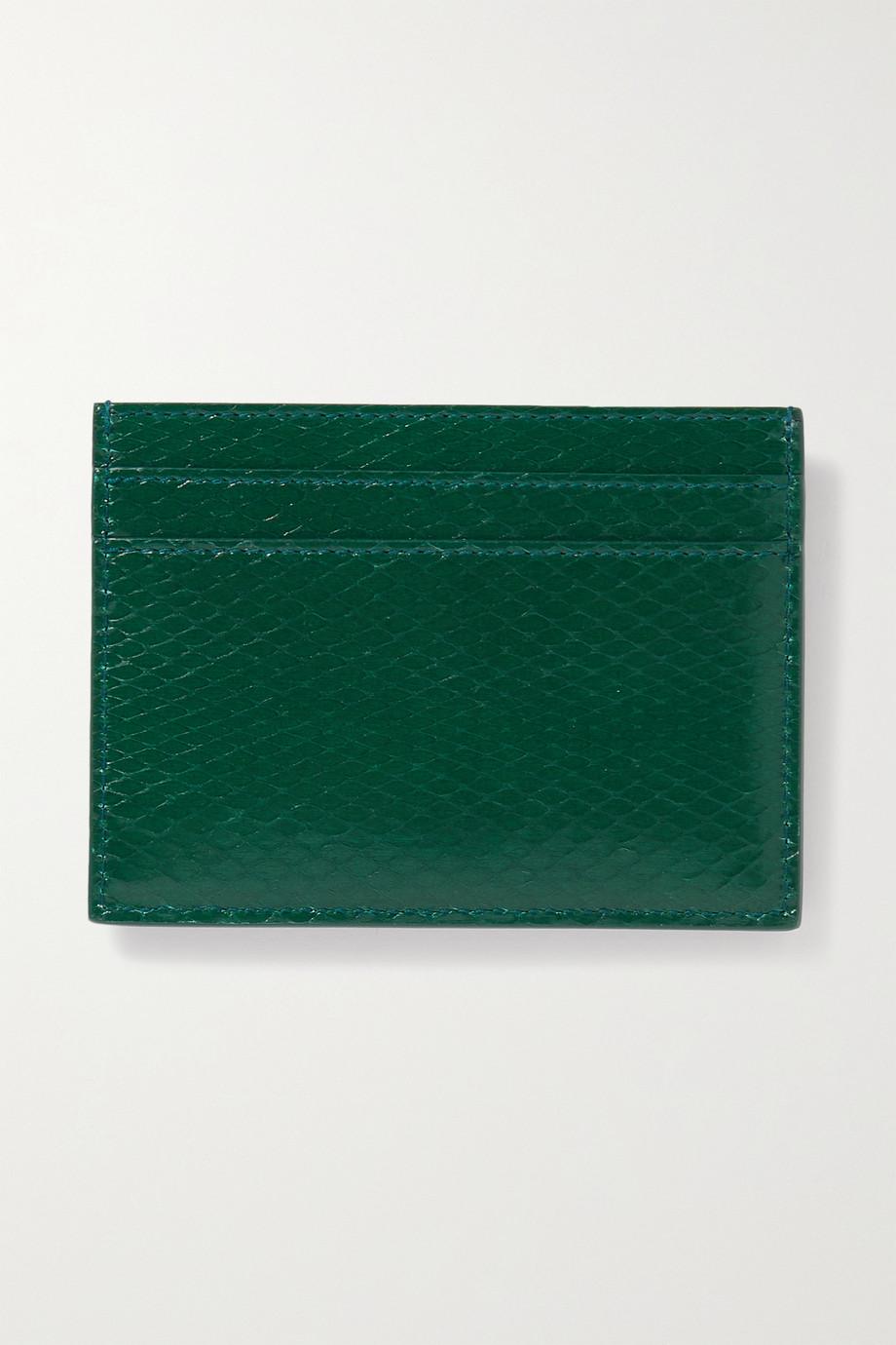 SAINT LAURENT Monogramme watersnake cardholder