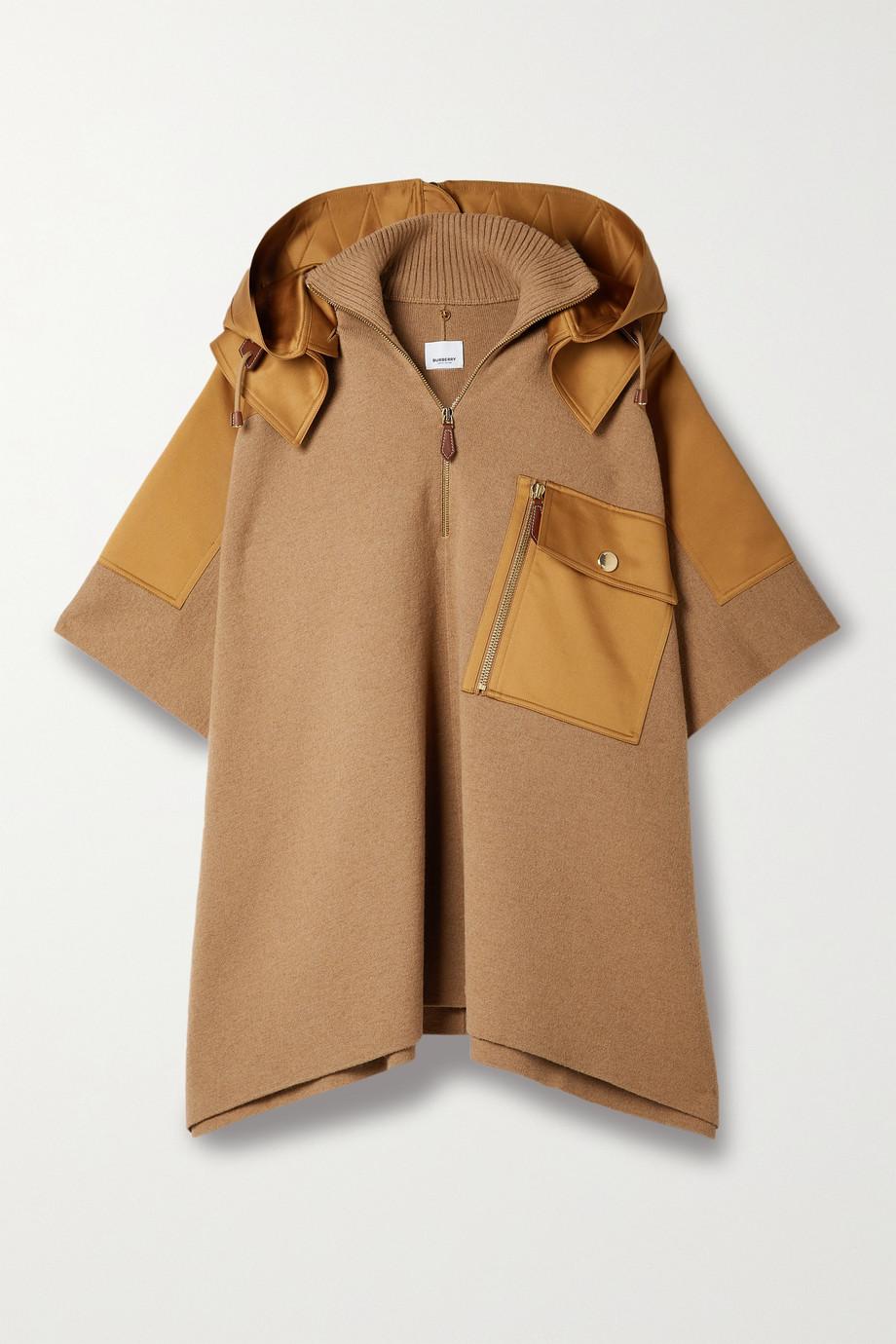 Burberry Cotton-trimmed camel hair-blend cape