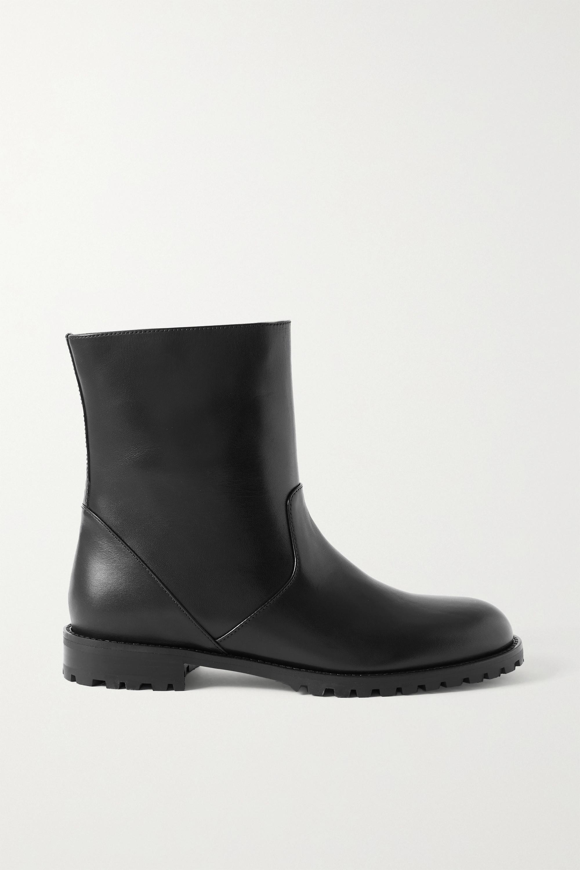 Manolo Blahnik - Motosa leather ankle boots
