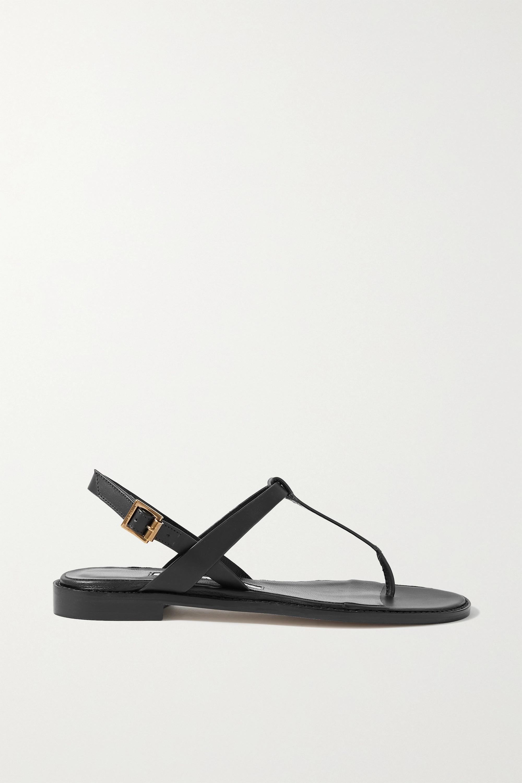 Manolo Blahnik Hata leather slingback sandals