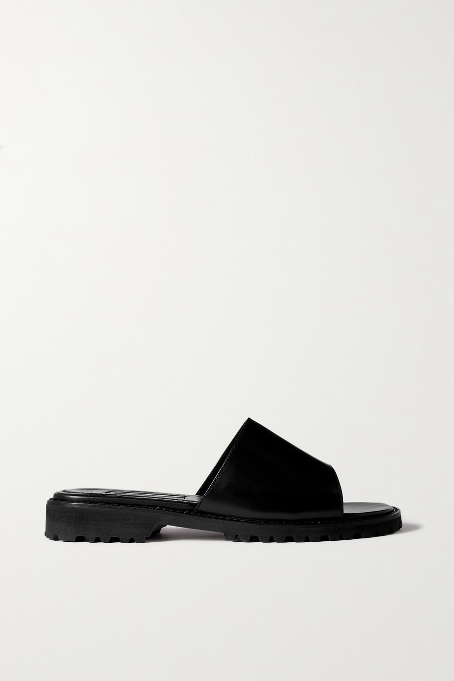 Manolo Blahnik Campaia leather slides