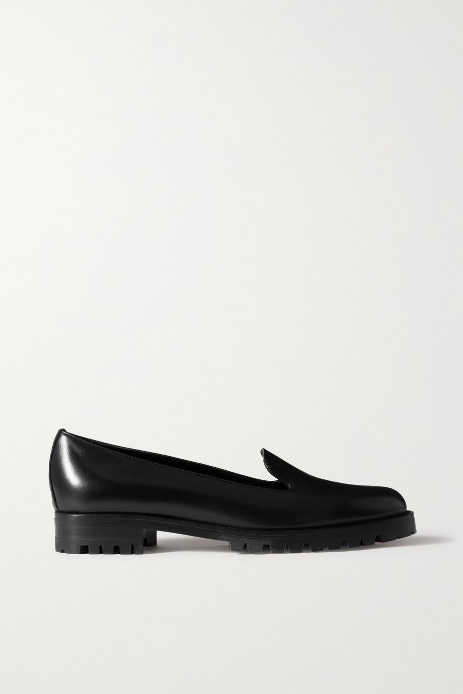 Manolo Blahnik Doratpla glossed-leather loafers