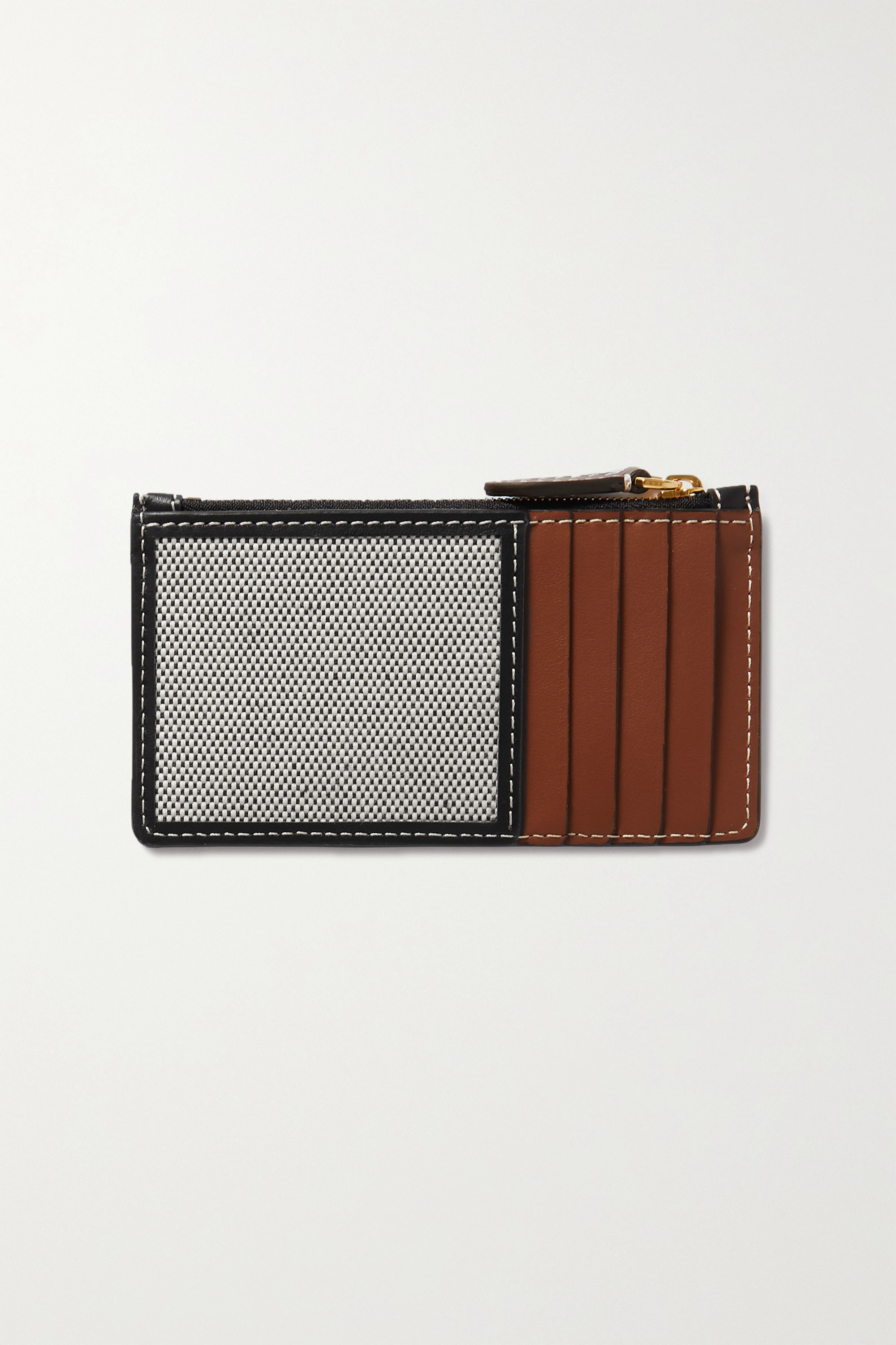 Burberry Cotton-canvas and leather cardholder