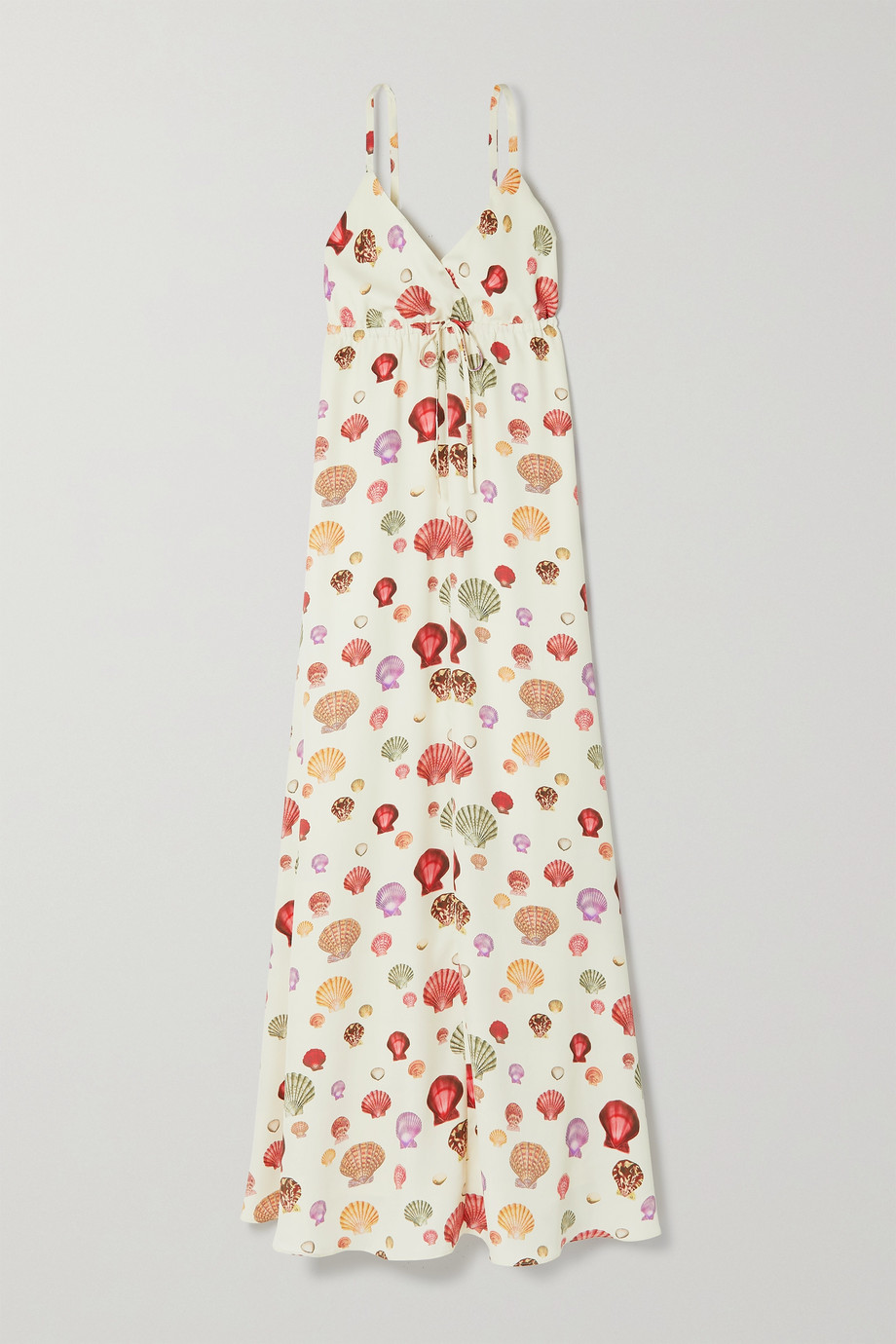 L'Agence Sachi printed crepe maxi dress
