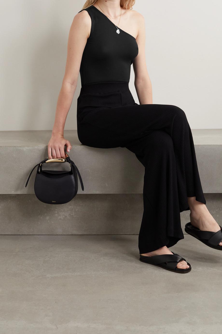L'Agence Dina Body aus Stretch-Jersey mit asymmetrischer Schulterpartie