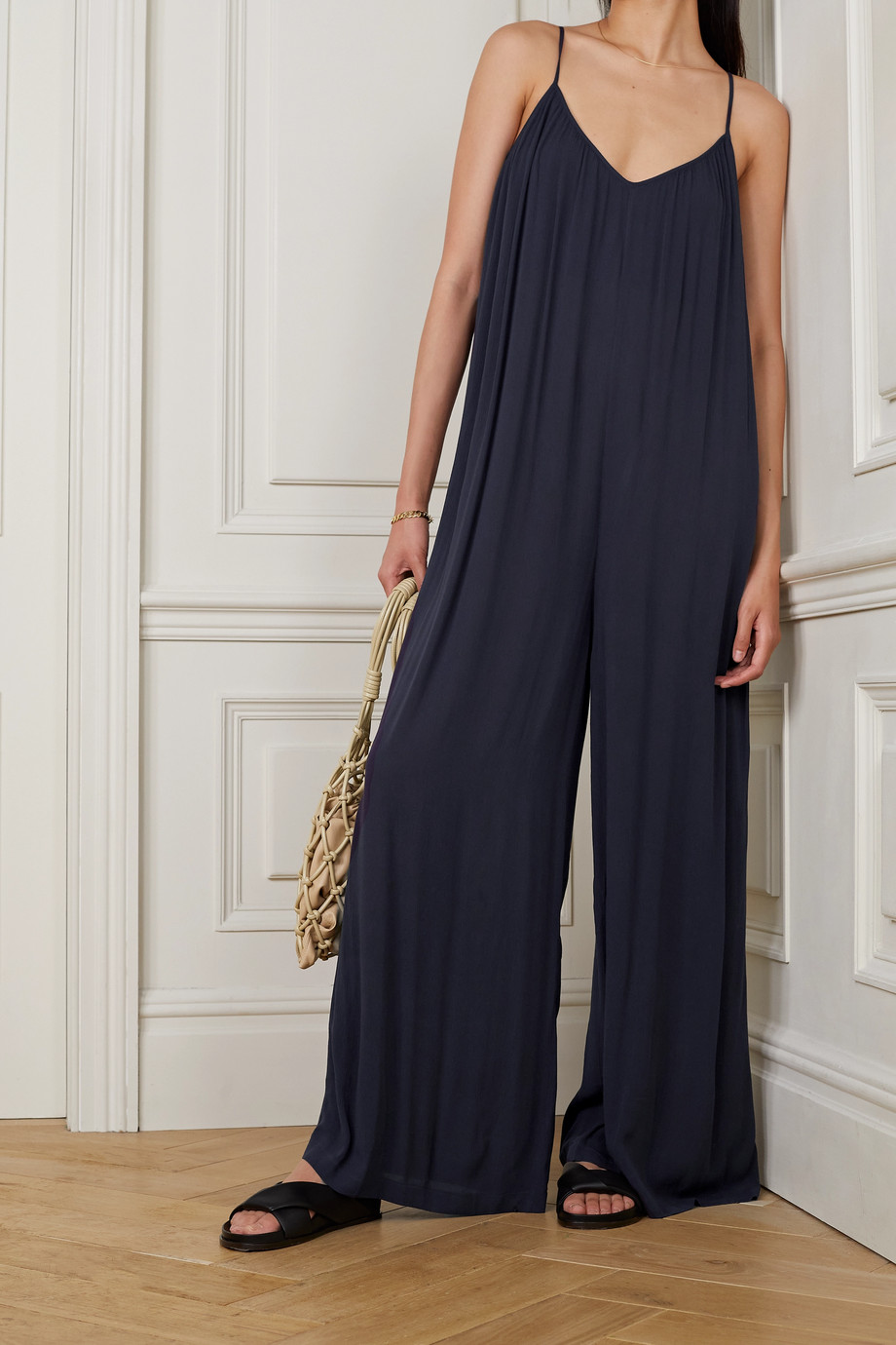 L'Agence Hina crepe jumpsuit