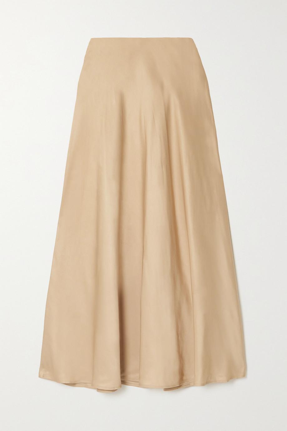 L'Agence Clarisa satin maxi skirt