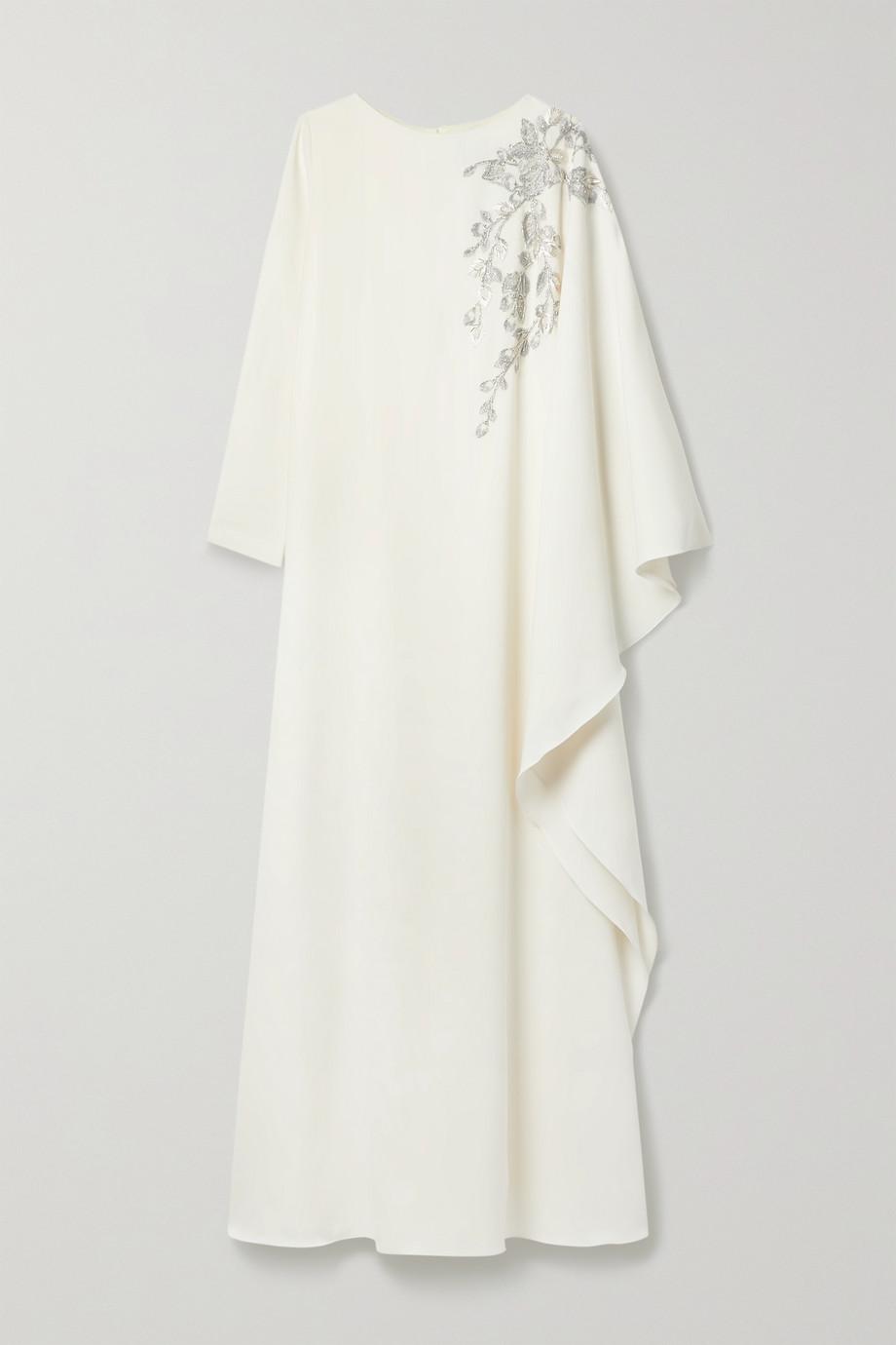 Marchesa Notte Robe du soir en crêpe à ornements