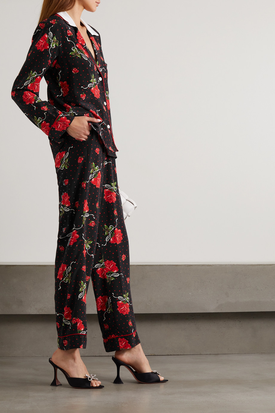 Rodarte Printed silk crepe de chine wide-leg pants