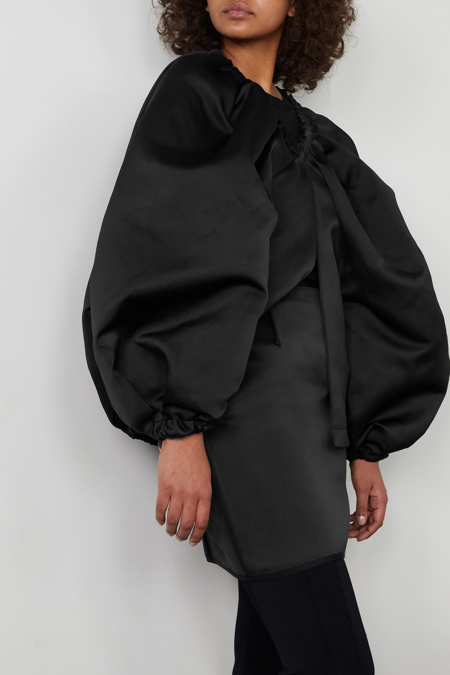 AZ Factory Switchwear oversized recycled duchesse-satin jacket
