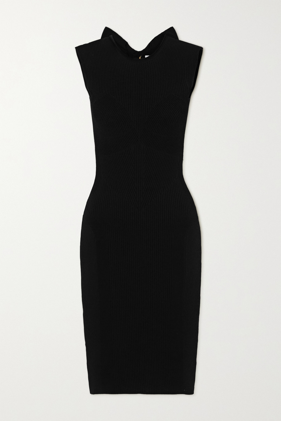 AZ Factory MyBody bow-detailed ribbed stretch-knit dress