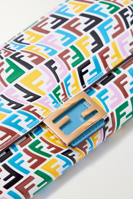 Fendi Baguette embossed leather clutch