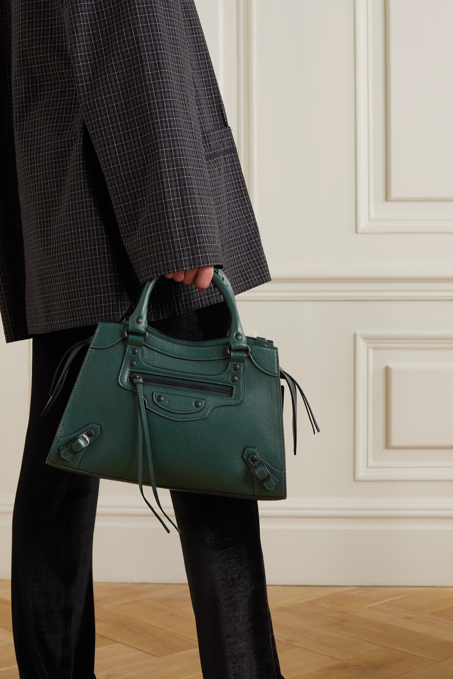 Balenciaga Sac à main en cuir texturé Neo Classic City Small