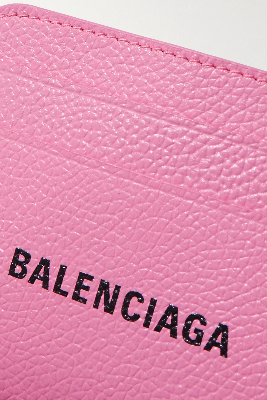 Balenciaga Porte-cartes en cuir texturé imprimé Cash