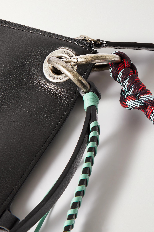 Dries Van Noten Sac porté épaule en cuir à corde tressée et à nœuds