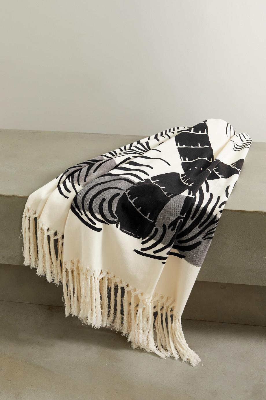 Dries Van Noten Goldie cotton-terry jacquard towel
