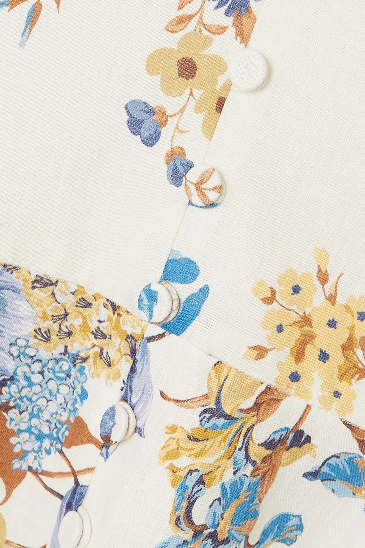 Erdem Ischia Midikleid aus einer Leinen-Baumwollmischung mit Blumenprint
