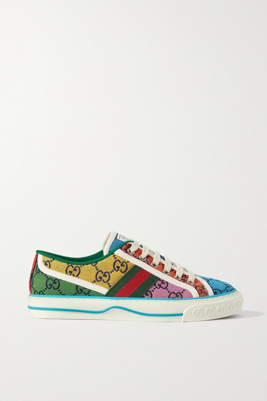 Gucci GG Multicolour Tennis 1977 Sneakers aus Canvas mit Logomuster