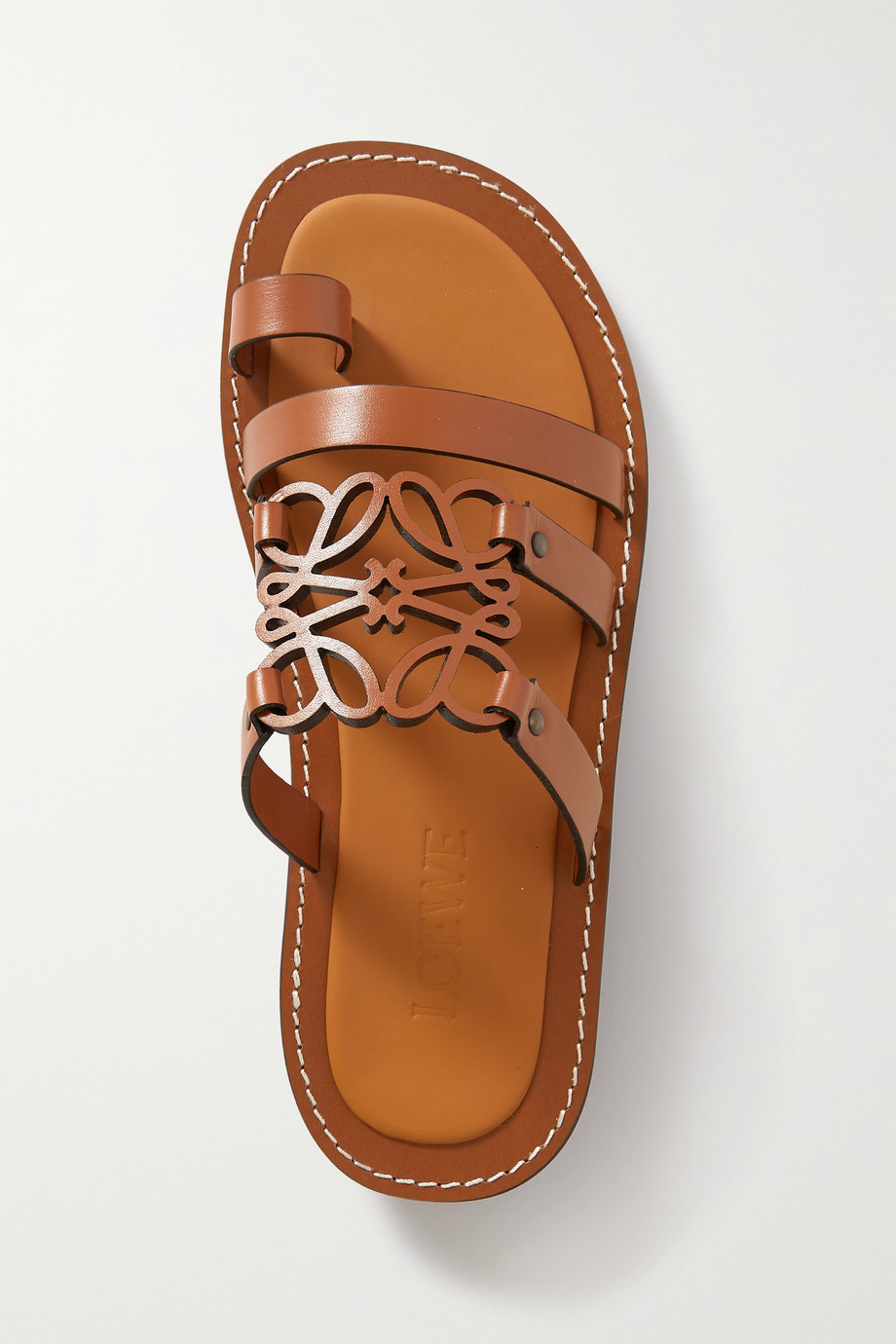 Loewe Anagram leather sandals
