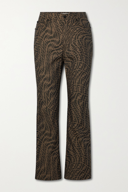 Fendi Jacquard flared pants