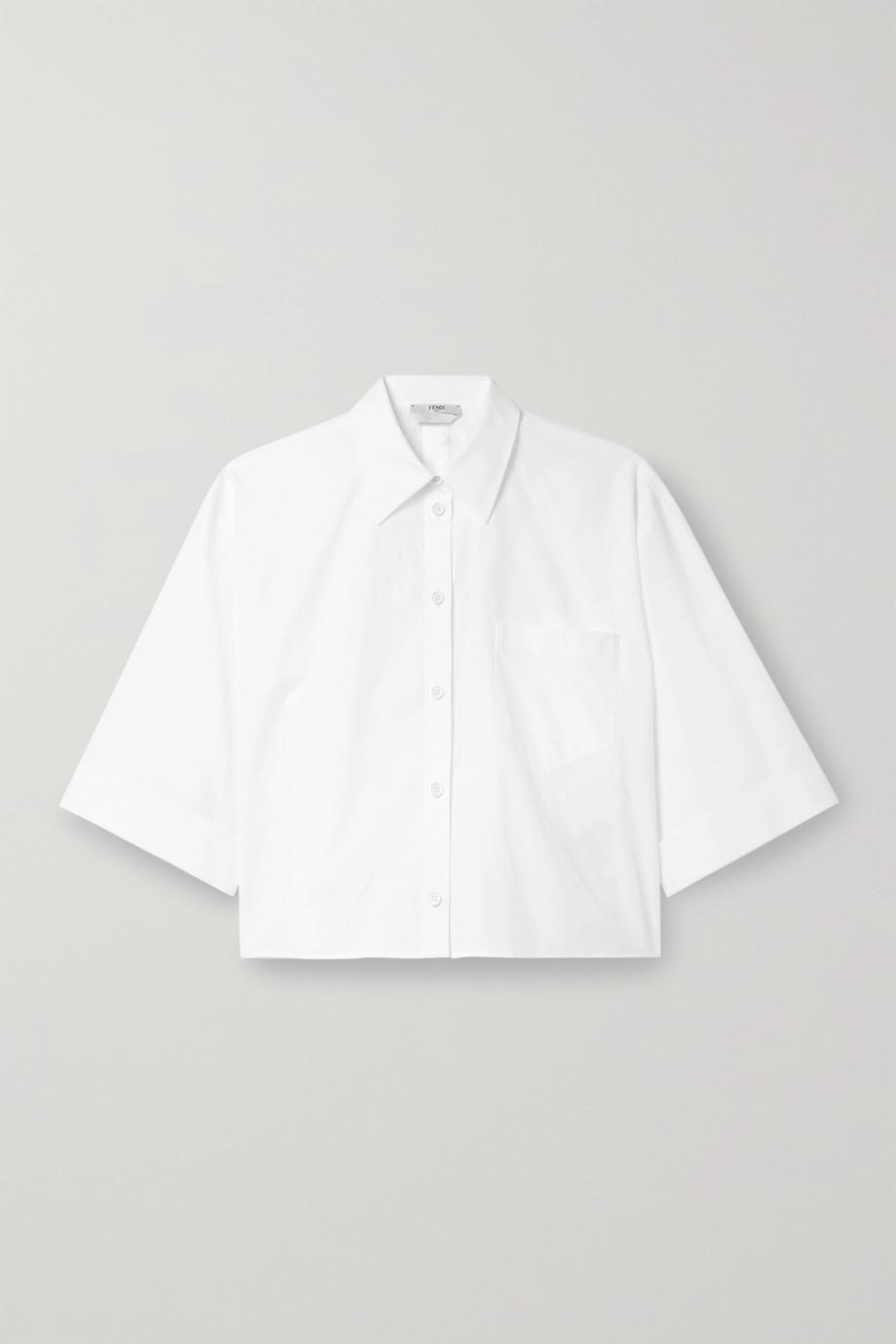Fendi Verkürztes Hemd aus Baumwollpopeline