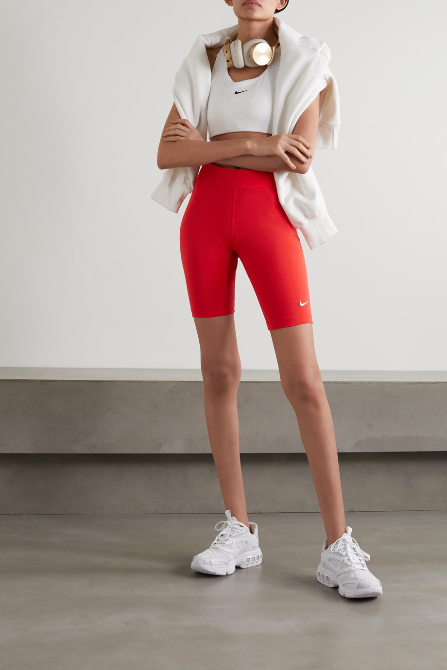 Nike Sportswear Essentials stretch cotton-blend jersey shorts