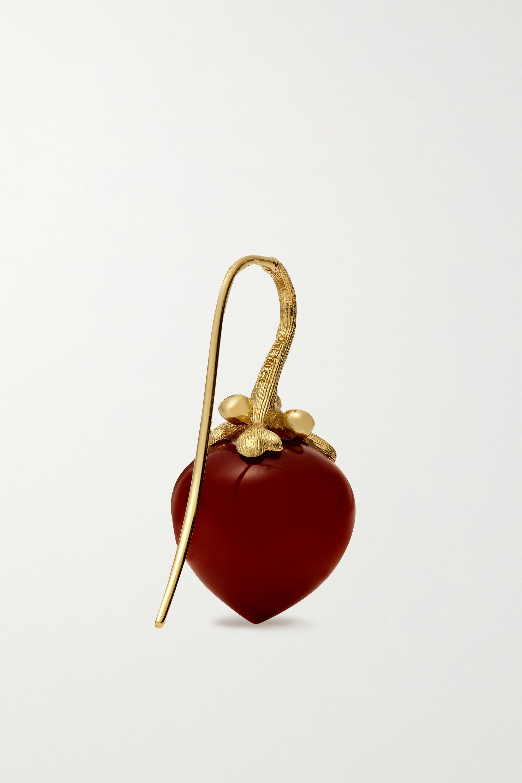 OLE LYNGGAARD COPENHAGEN Dew Drops Large Ohrringe aus 18 Karat Gold mit Karneolen
