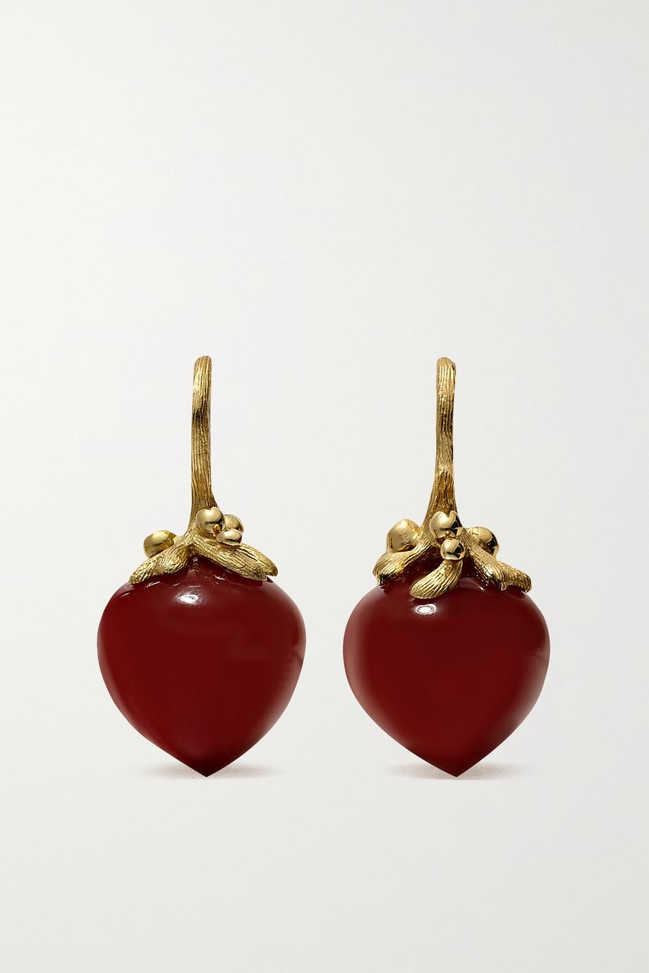 OLE LYNGGAARD COPENHAGEN Boucles d'oreilles en or 18 carats et cornalines Dew Drops Large