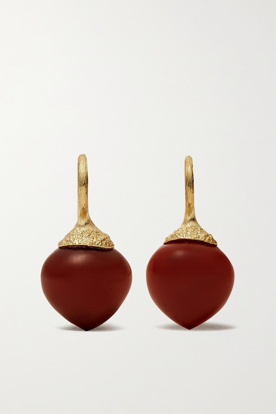 OLE LYNGGAARD COPENHAGEN Dew Drops Small Ohrringe aus 18 Karat Gold mit Karneolen