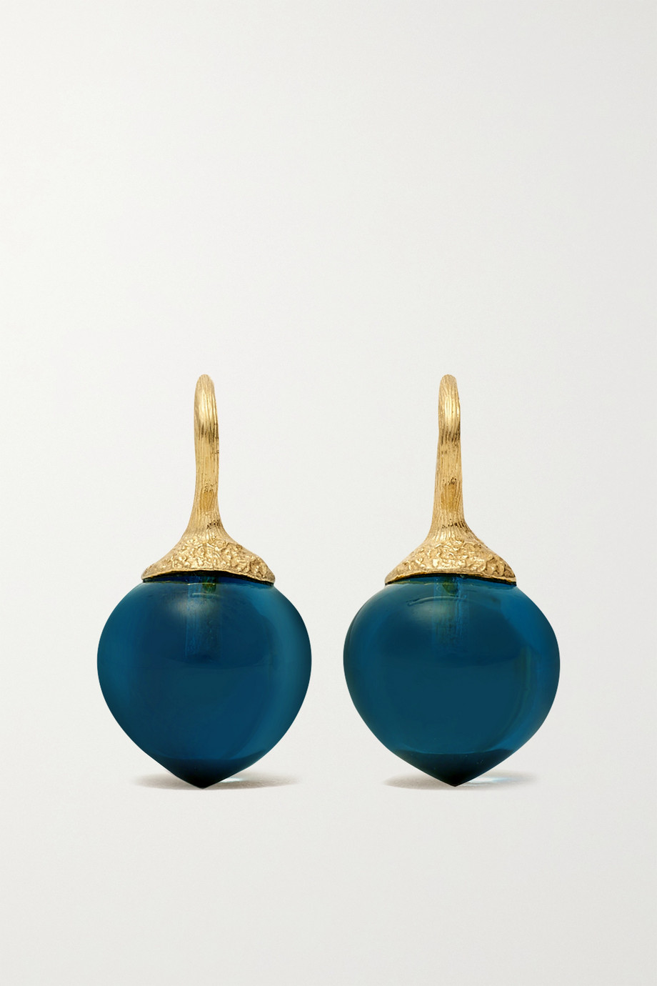OLE LYNGGAARD COPENHAGEN Boucles d'oreilles en or 18 carats et topazes Dew Drops Small