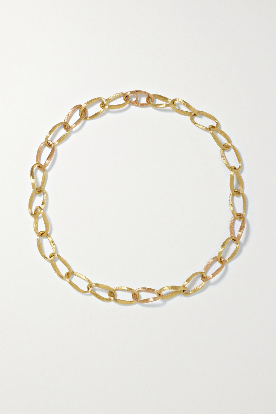 OLE LYNGGAARD COPENHAGEN Collier en or jaune et rose 18 carats (750/1000) Love Medium