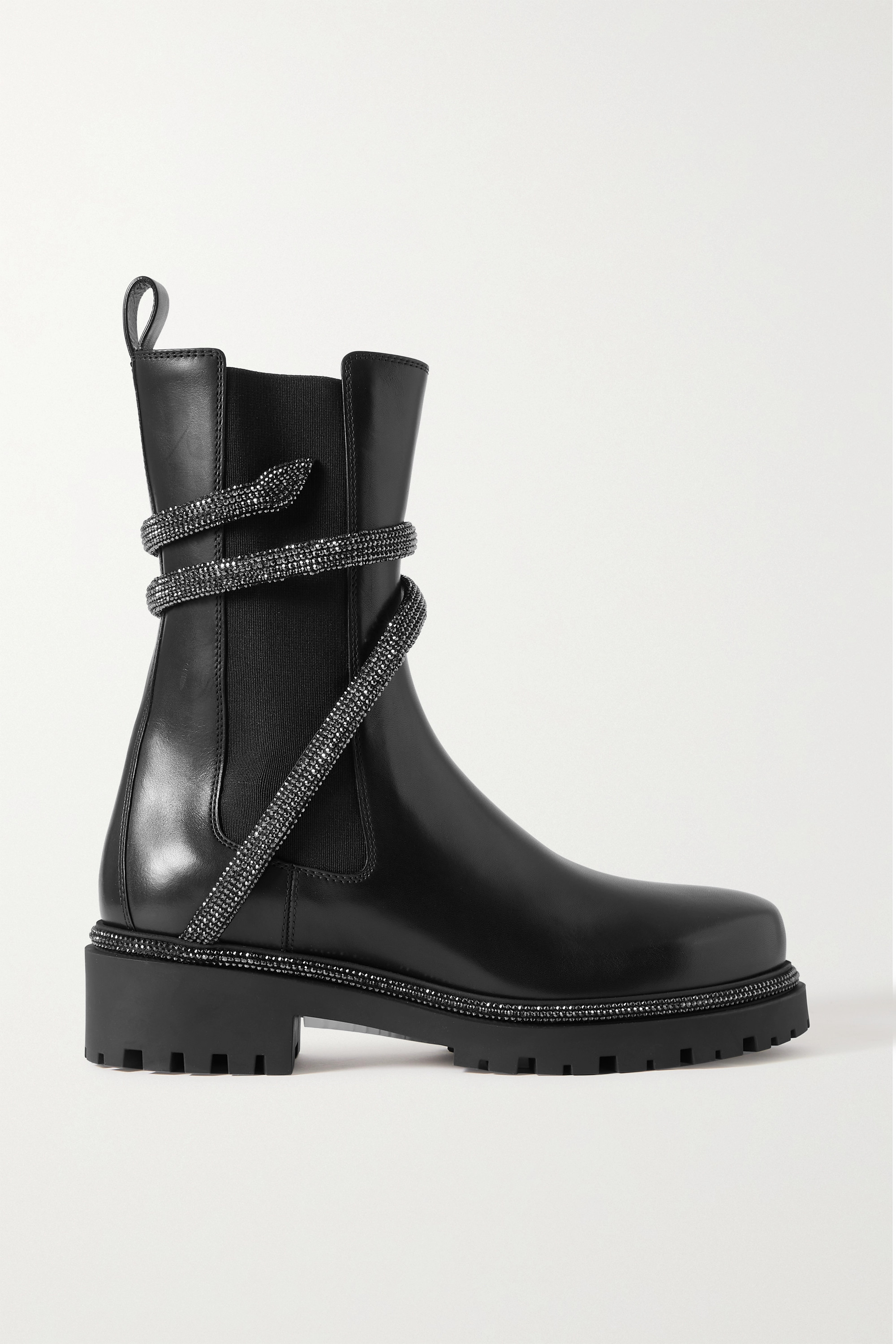 René Caovilla - Cleo crystal-embellished leather Chelsea boots