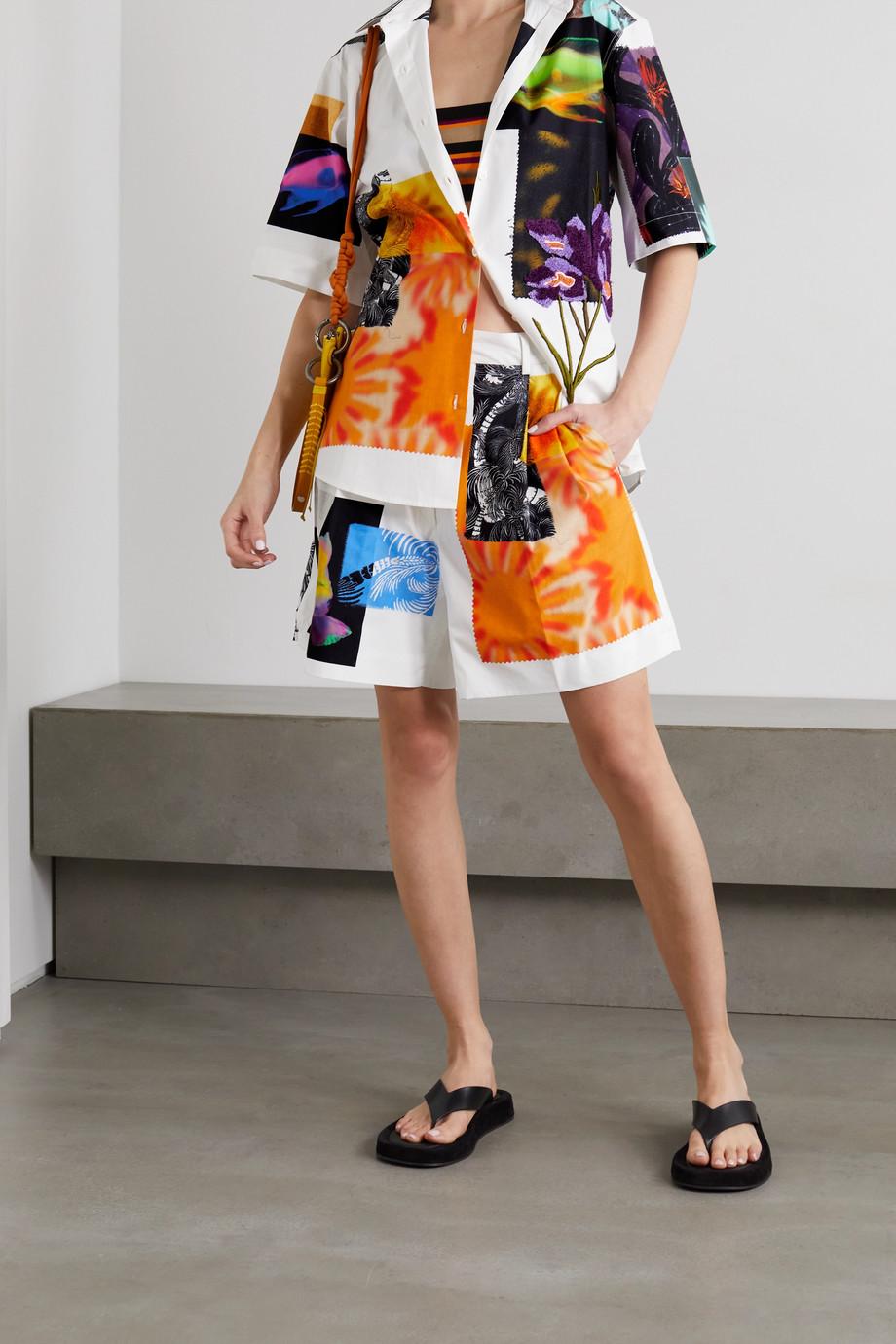 Dries Van Noten Clavelly embroidered printed cotton-poplin shirt