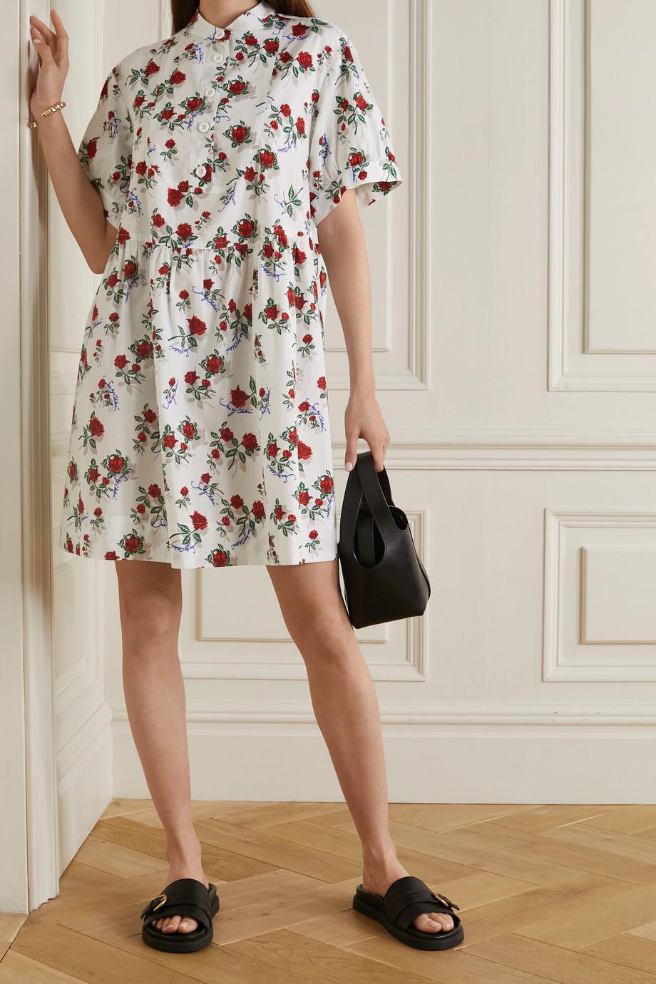 See By Chloé Floral-print cotton-poplin dress
