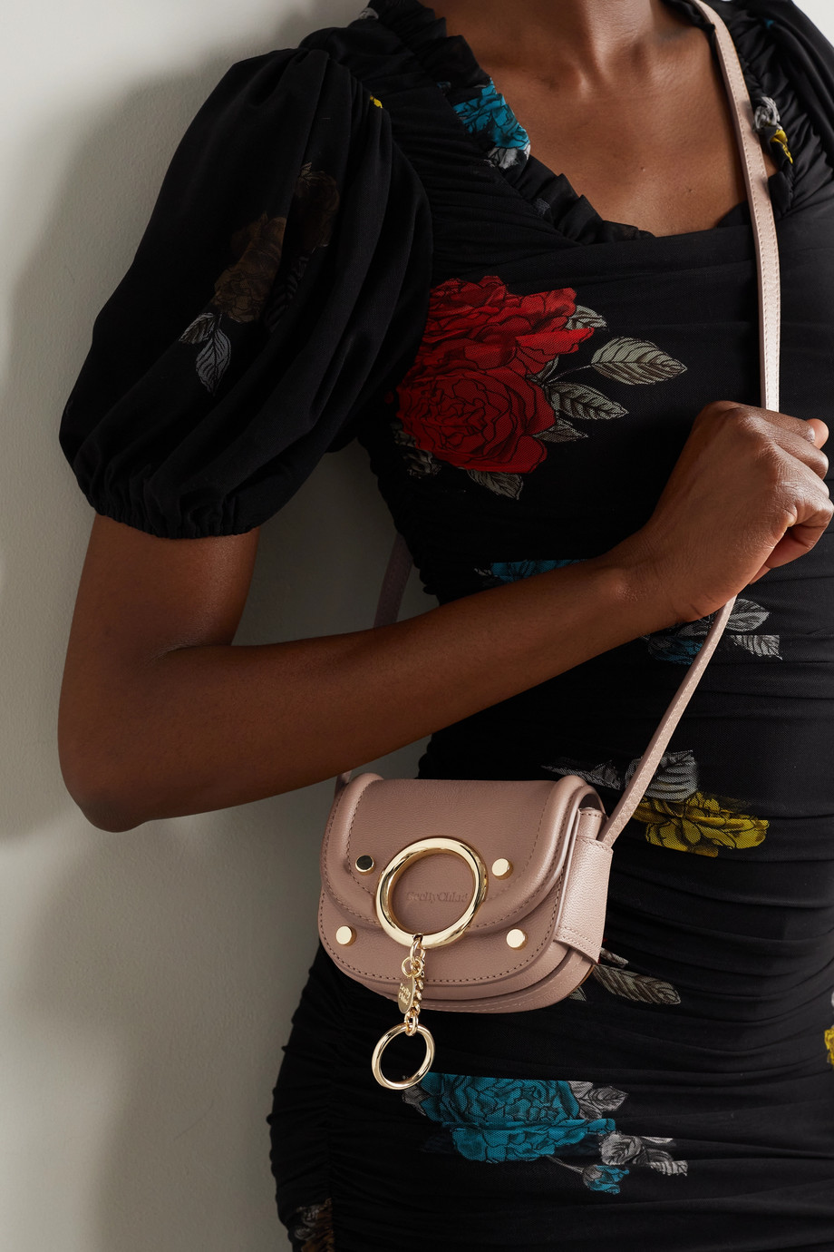 See By Chloé Mara mini embellished textured-leather shoulder bag