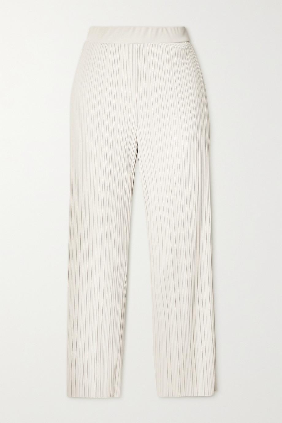 Max Mara Leisure Siberia Hose mit weitem Bein aus plissiertem Jersey
