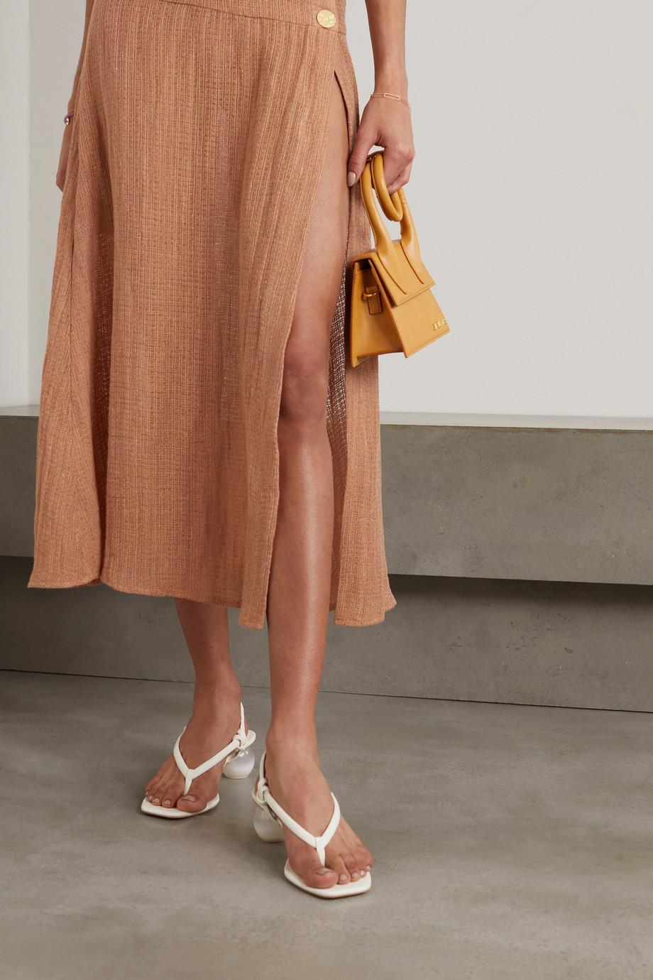 Cult Gaia Aviva Slingback-Sandalen aus Leder mit Schlangeneffekt