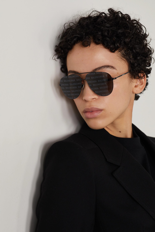 Balenciaga Aviator-style metal sunglasses