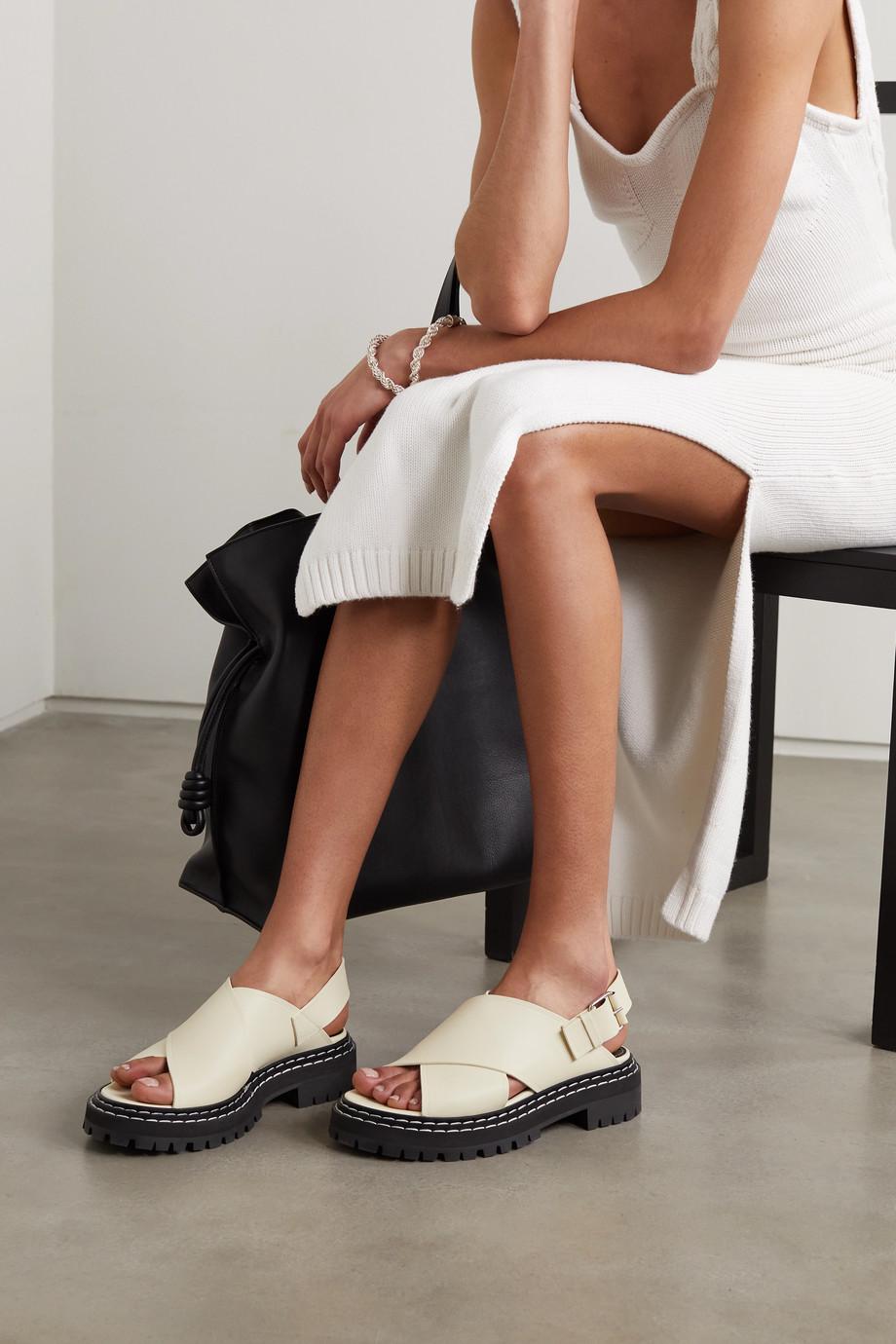 Proenza Schouler Leather slingback platform sandals