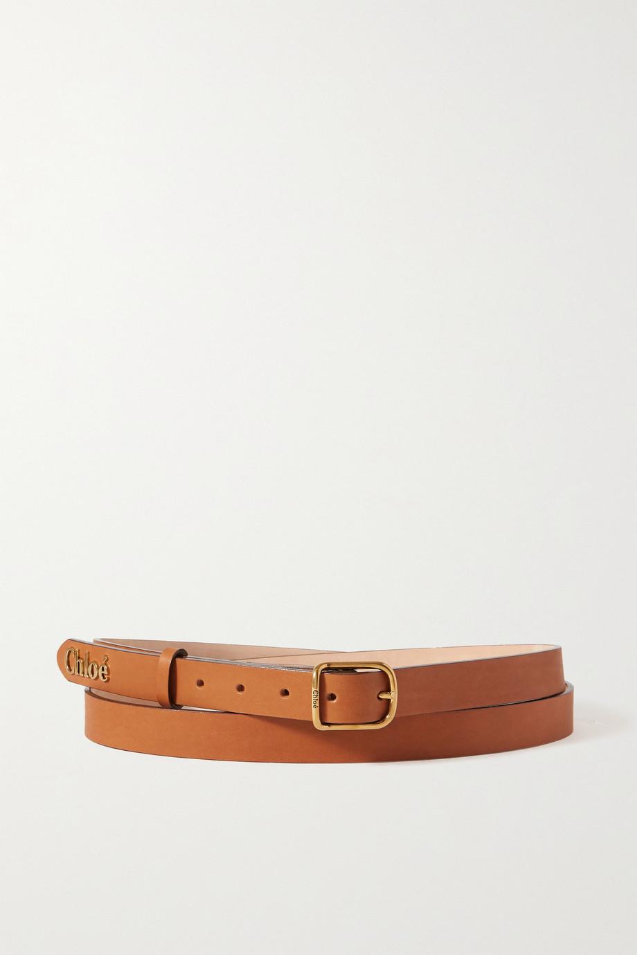 Chloé Embellished leather waist belt