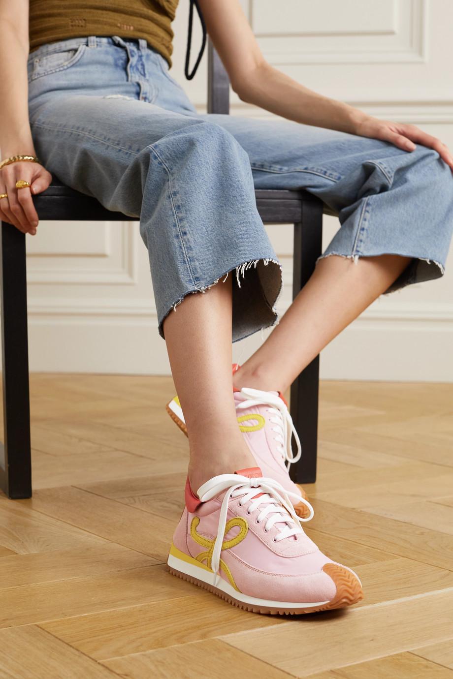Loewe Flow Runner Sneakers aus Leder, Veloursleder und Shell