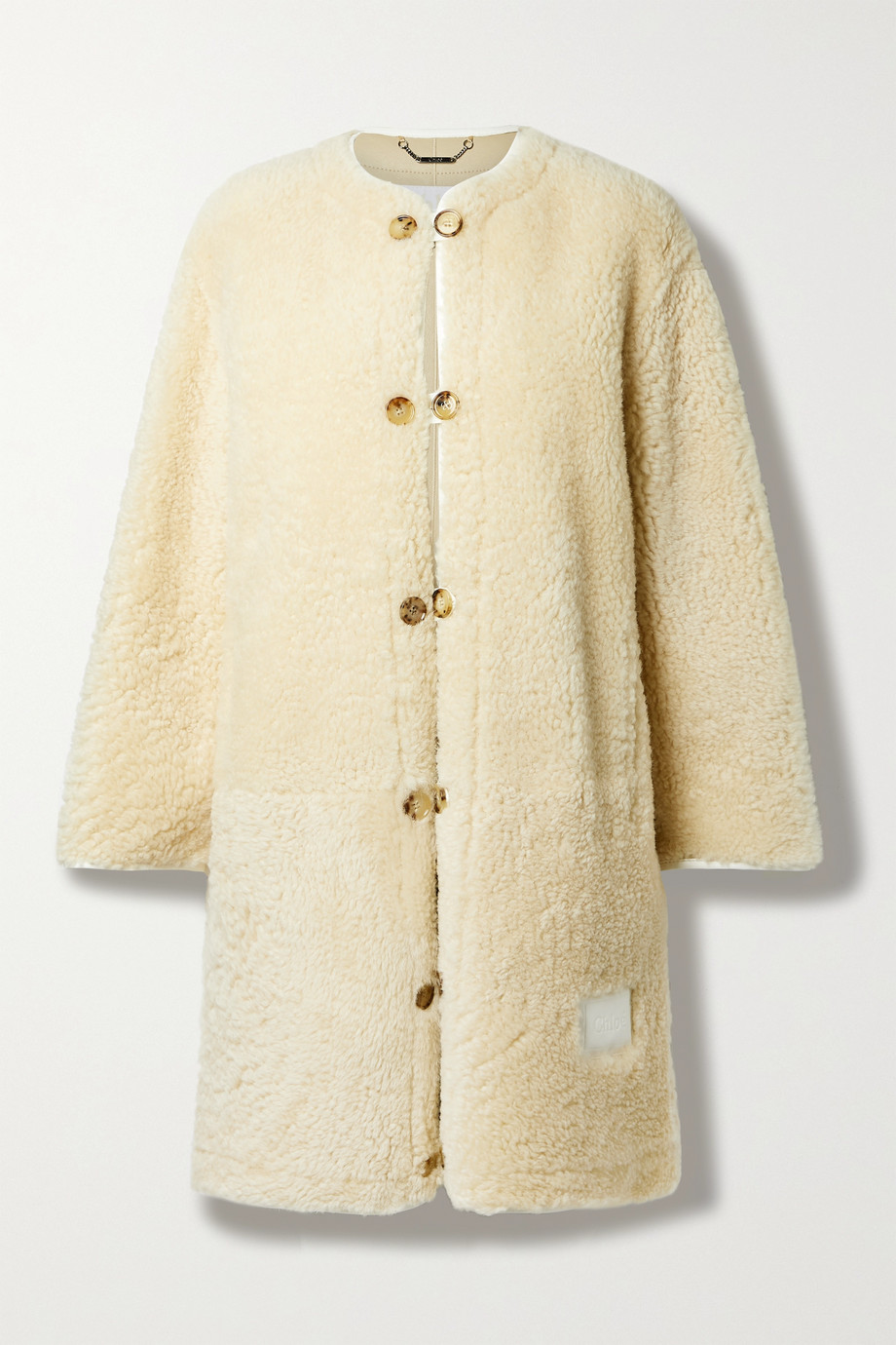 Chloé Manteau en peau lainée