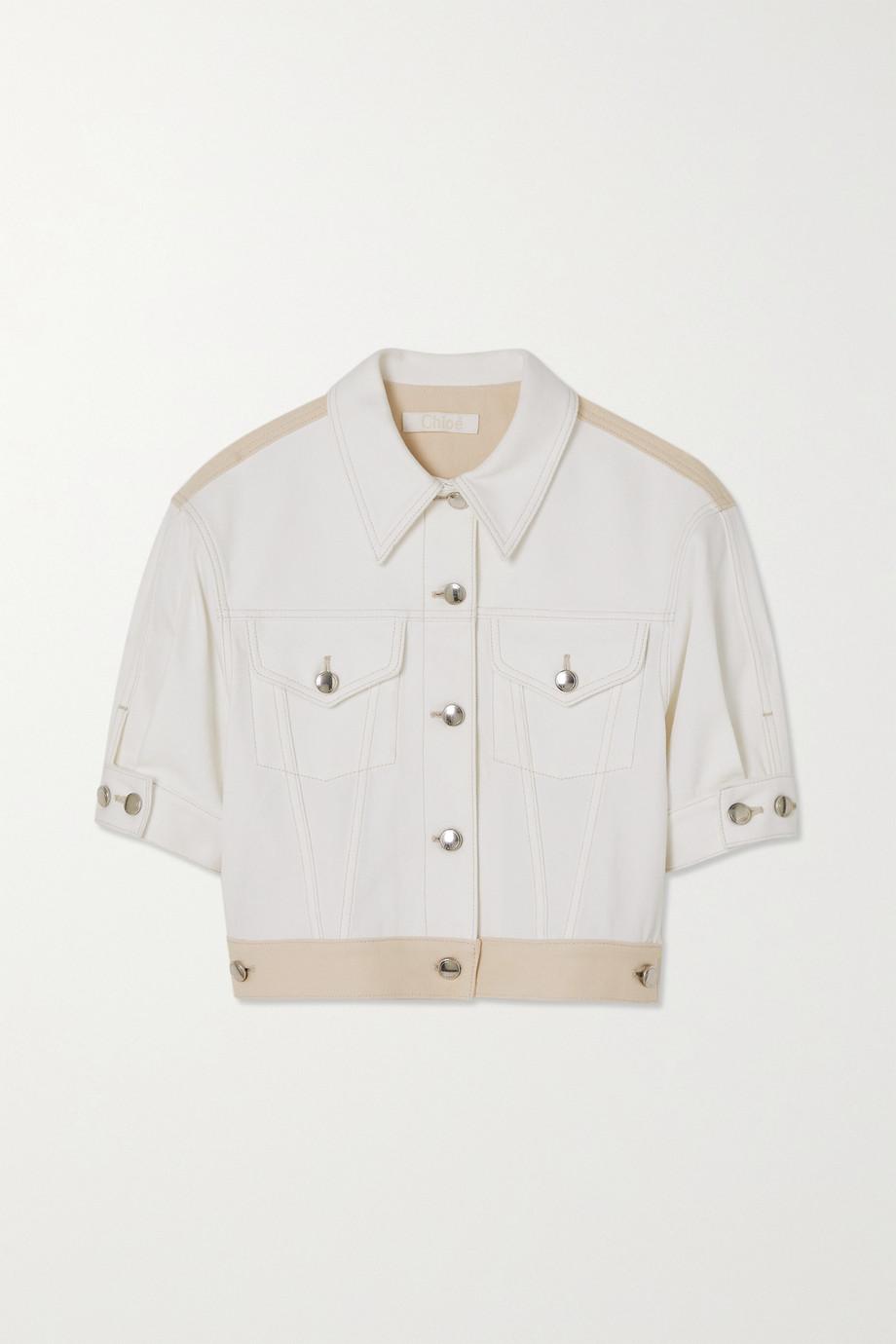 Chloé Two-tone printed denim jacket